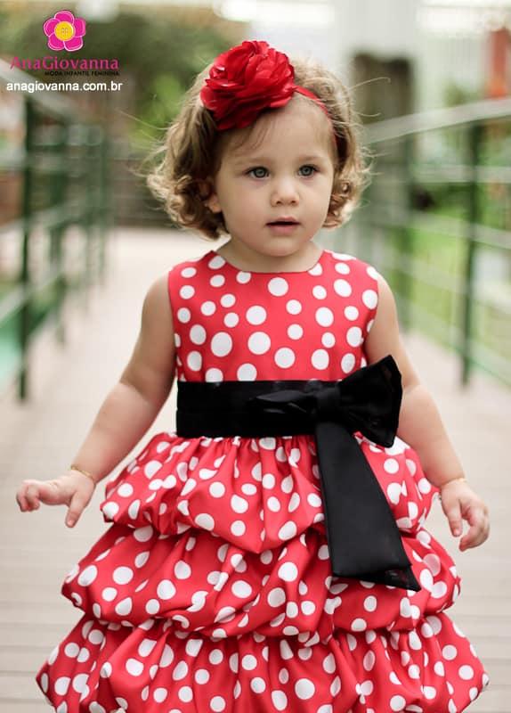 Vestido Minnie Vermelha Infantil