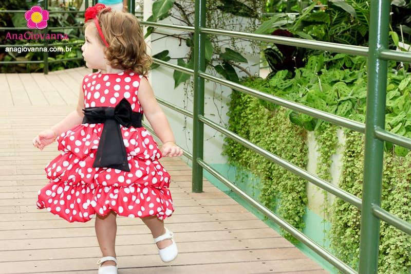 Vestidos infantil de festa Minnie