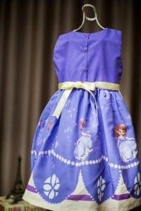 Vestido para festa de aniversário infantil da Princesa Sofia
