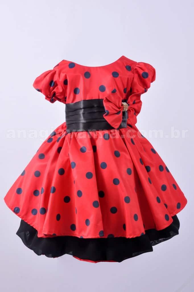 Vestido Minnie para festa de aniversário infantil
