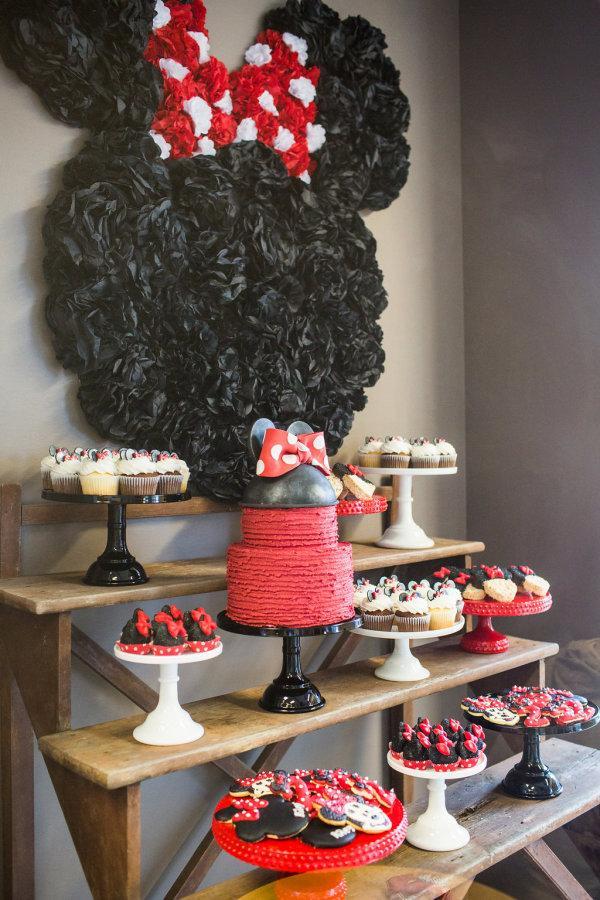 Sugestão para decoração da festa da Minnie vermelha