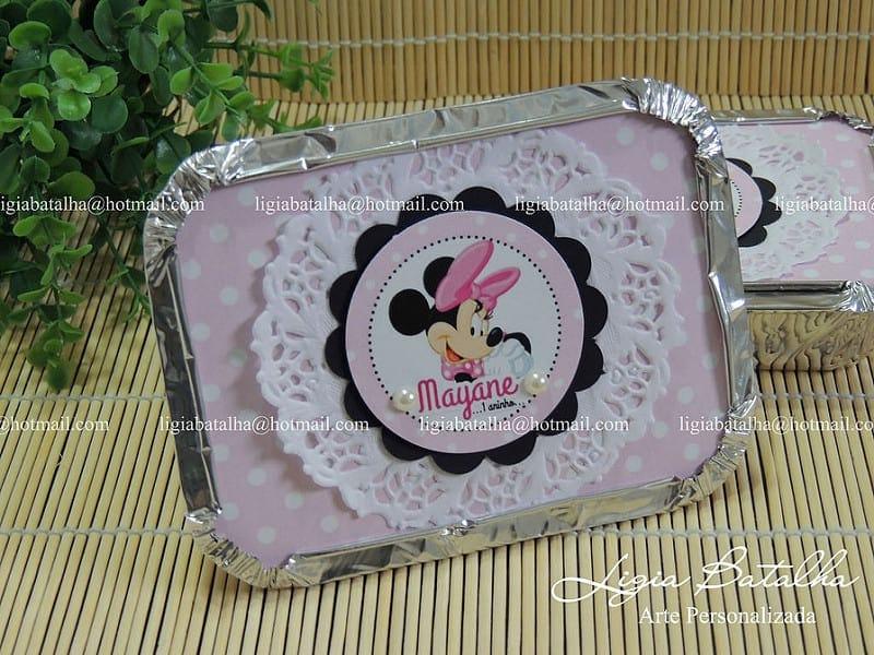 Lembrancinha da Minnie rosa personalizada