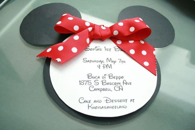 Idéias para convites de aniversário da Minnie