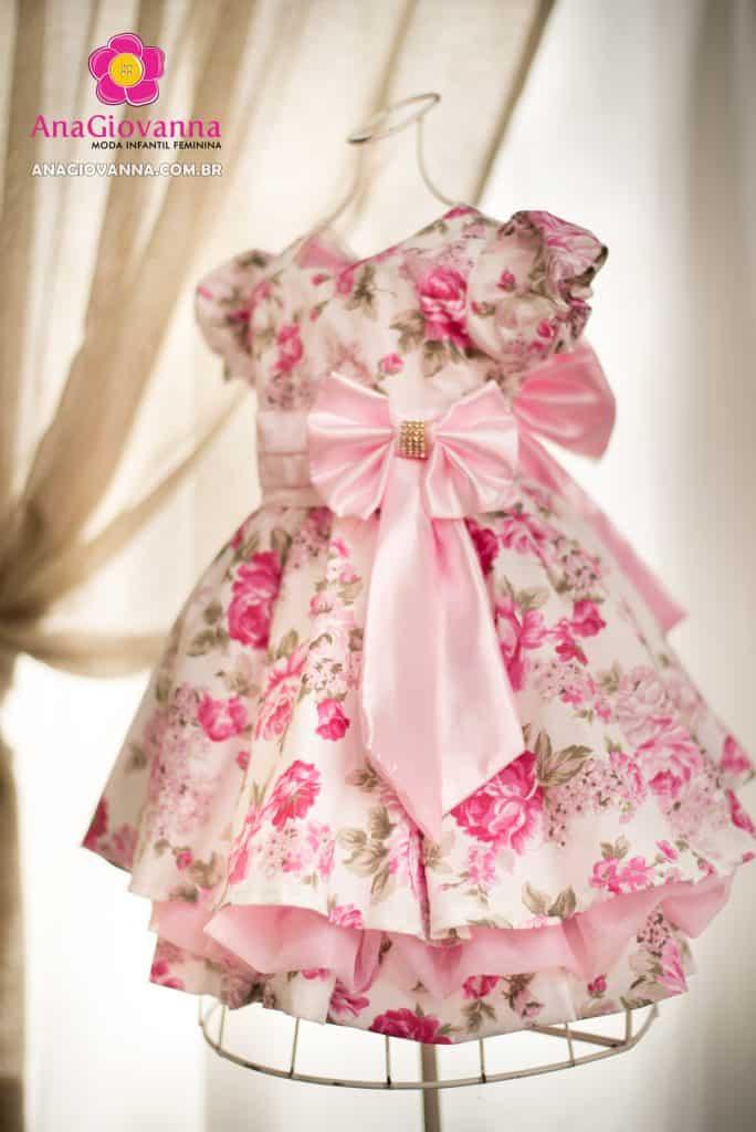 Vestido de festa floral infantil