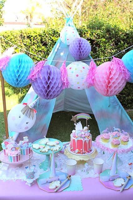 Tema de festa infantil feminina para aniversário