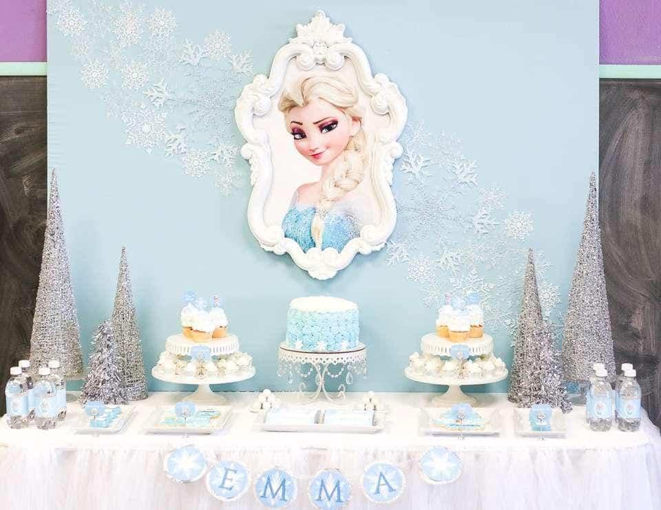 Mesa Do Bolo Frozen Id151 2 2 Blog Ana Giovanna