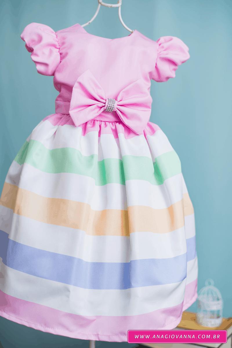Vestido para festa infantil de aniversário