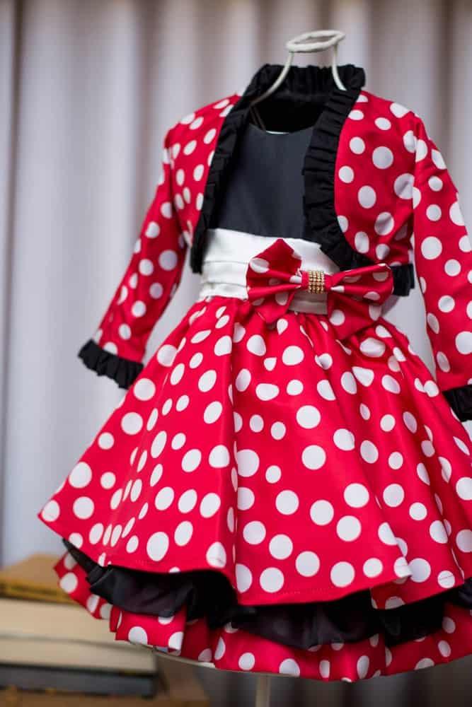 Vestido da Minnie com casaquinho