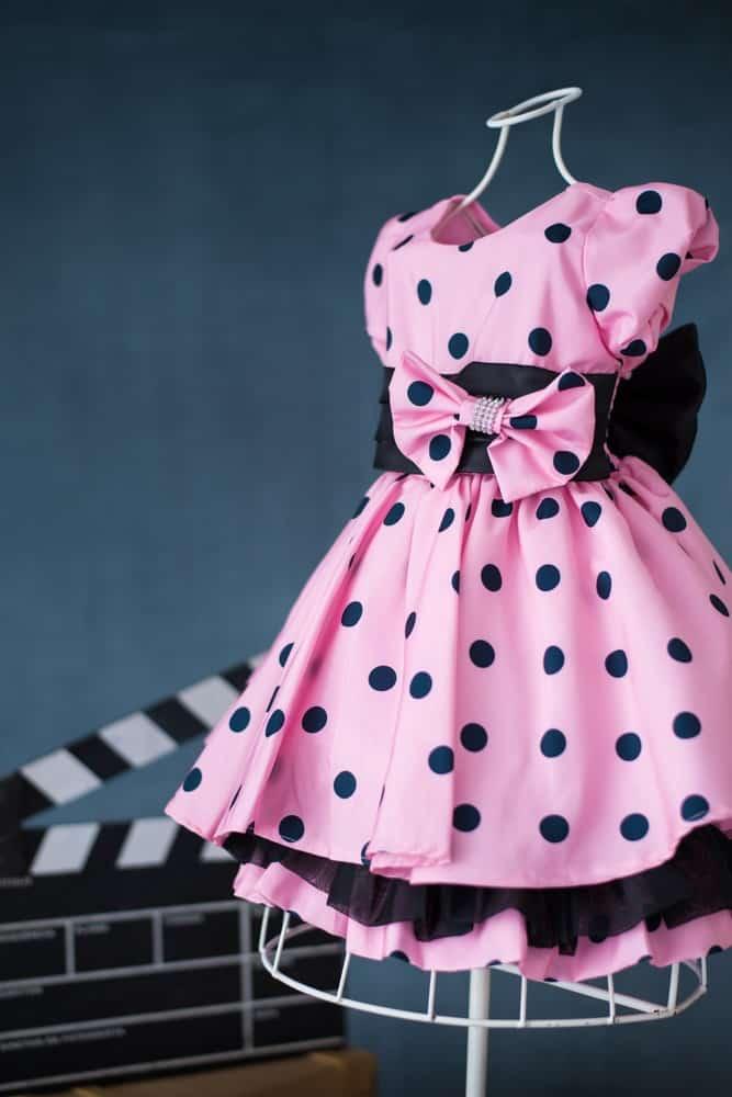 Minnie rosa de poá preto