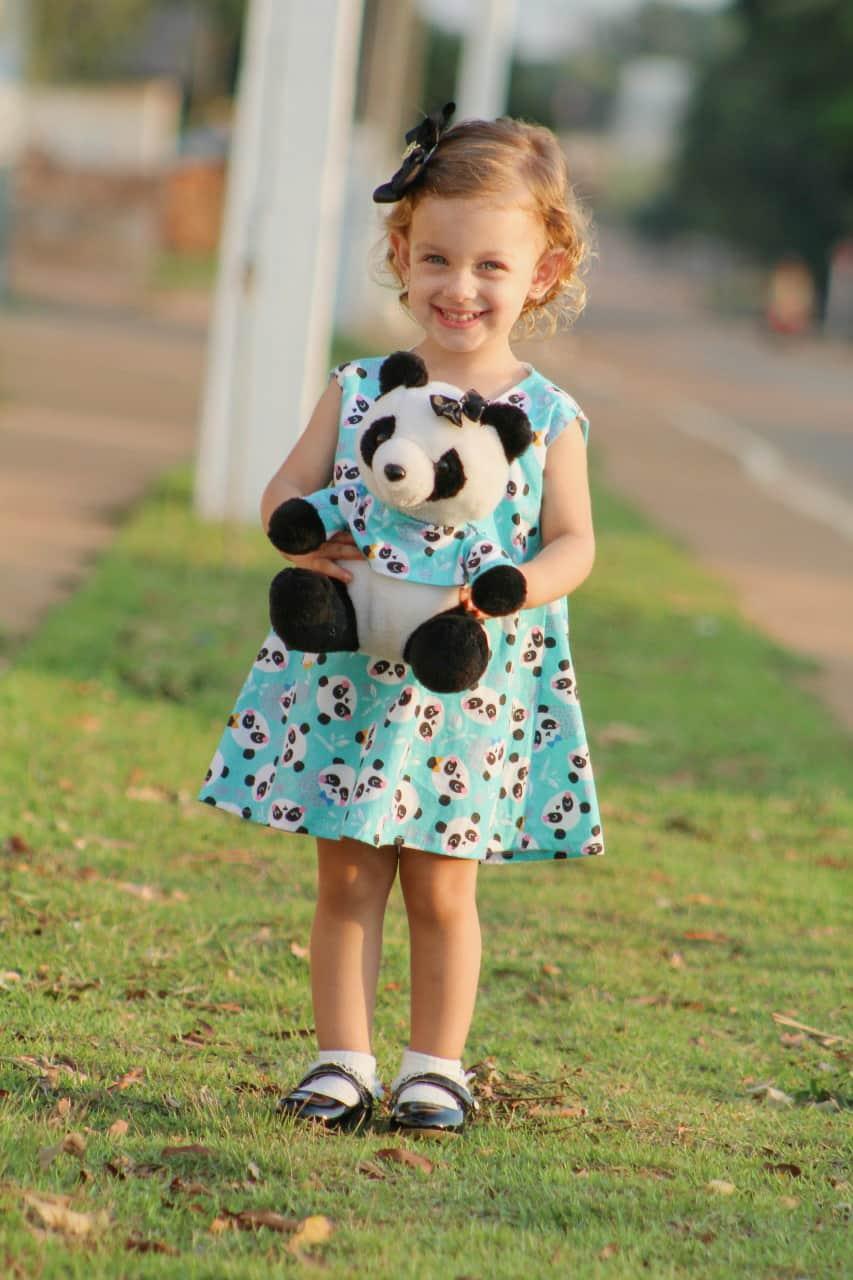Vestidinho estampa Panda