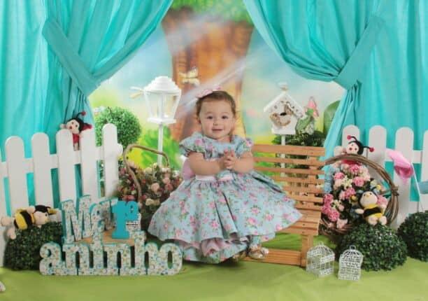 Vestido infantil social floral