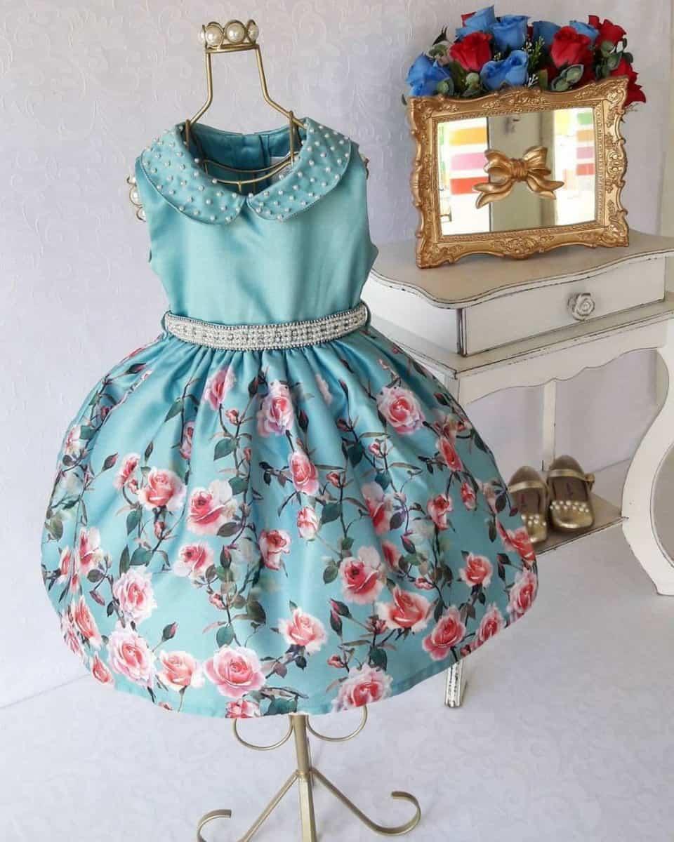 Vestido infantil social de luxo