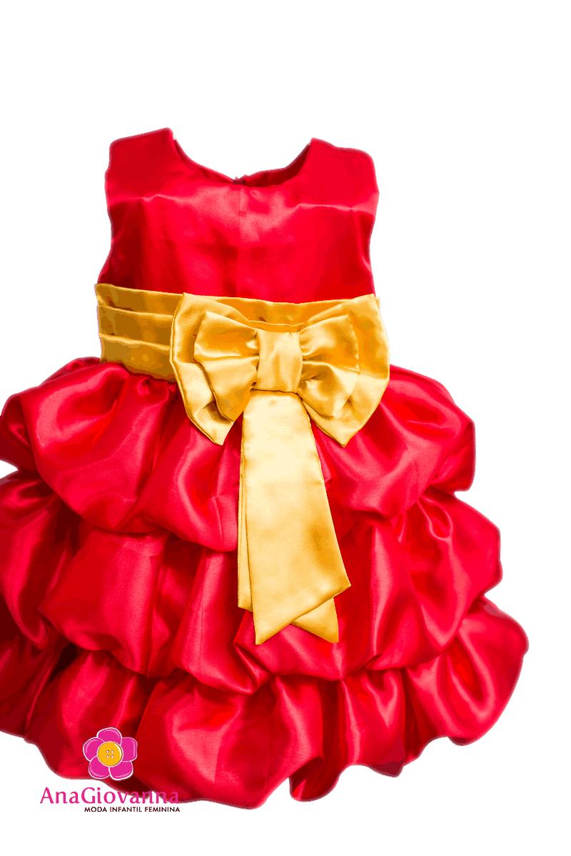 Vestido Vermelho modelo balonê