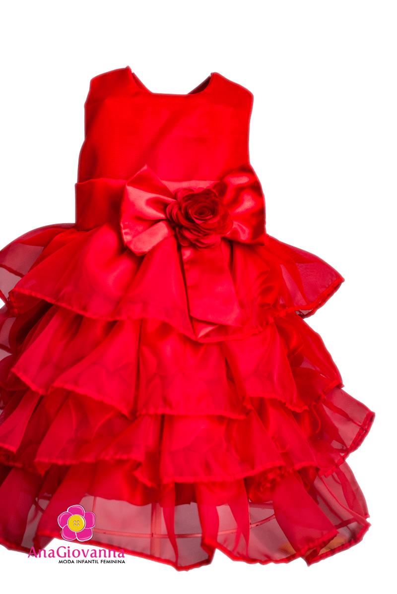 Vestido vermelho infantil social