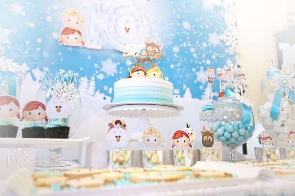 Decoração de festa Frozen