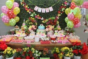 20 ideias para Festa Jardim Encantado, Muitas cores