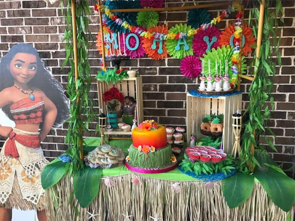 20 ideias para decorar festa com tema Moana