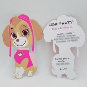convite,patrulha,canina,personagem,formato