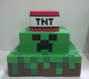ideias de bolo Minecraft, Bolos fakes
