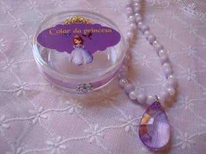 lembrancinhas Princesa Sofia, Colar encantado da Sofia