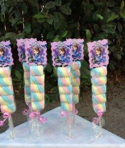 lembrancinhas Princesa Sofia, Espetos de marshmallow