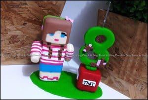ideias de bolo Minecraft, Minecraft para meninas