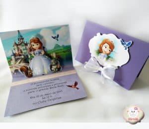 Convite da Princesa Sofia, 3D, Cartão