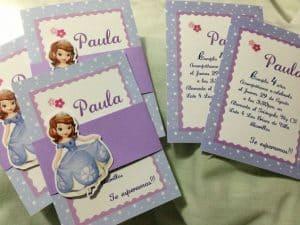 convite,princesa,sofia,cartão,aniversário