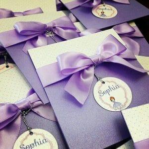 Convite da Princesa Sofia, Envelope, Cartolina