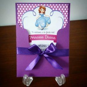 Convite da Princesa Sofia, Envelope, Fita