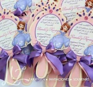 convite,princesa,sofia,espelho,laço