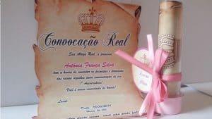 Convite da Princesa Sofia, Pergaminho, Convite real
