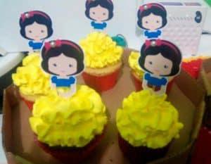 lembrancinhas da branca de neve, Cupcakes