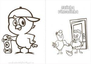 ideias de convite da Galinha Pintadinha, Convite para colorir