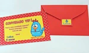 ideias de convite da Galinha Pintadinha, Convite simples