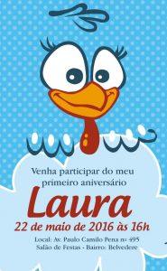 ideias de convite da Galinha Pintadinha, Convite virtual