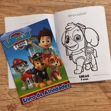 lembrancinha da Patrulha Canina, Livros de colorir