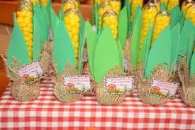 Ideias de Convite Fazendinha, tubete de milho