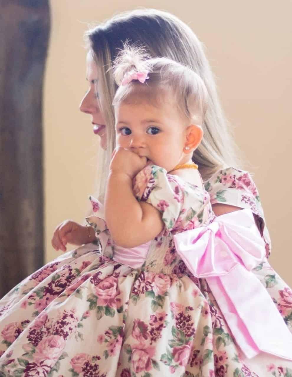 Vestido de festa infantil para bebê