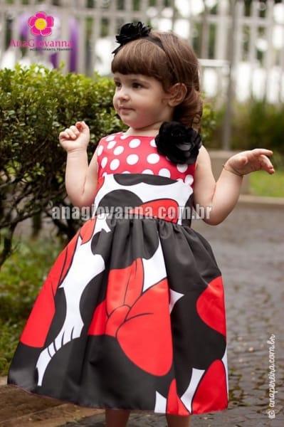 Vestido da Minnie para Festa Infantil